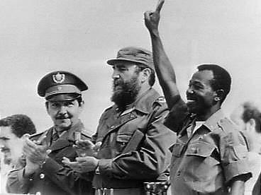 Raul Castro, Fidel Castro och Mengistu Haile Mariam