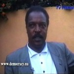 Dawit Isaak in an interview with TV Rahwa, August 2001. Photo: TV Rahwa.