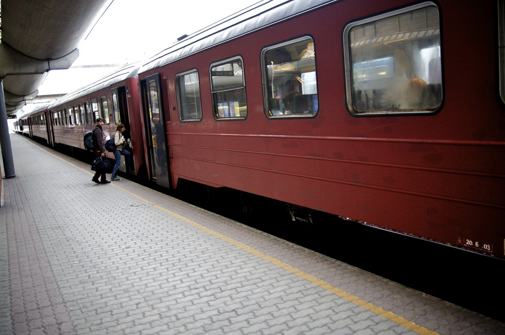 Tåg på Oslo S.