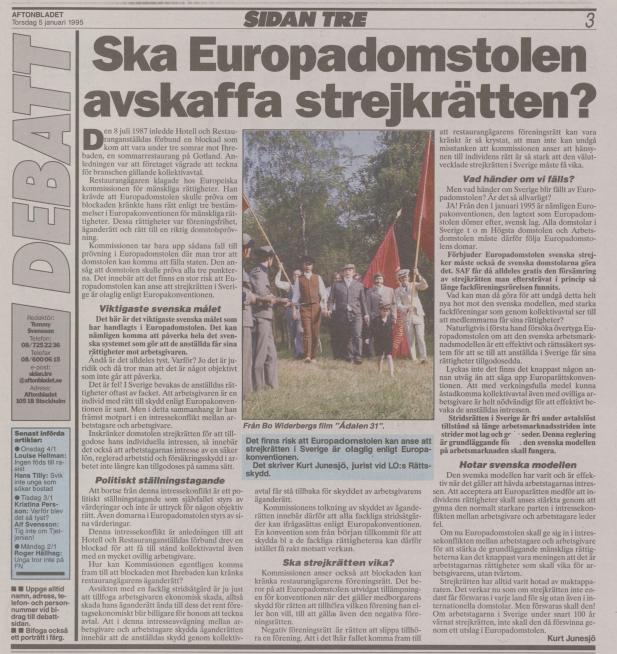 Pressklipp från Aftonbladet